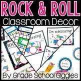Rock and Roll Theme Editable Decor