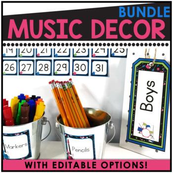 Rock and Roll Theme Editable Decor