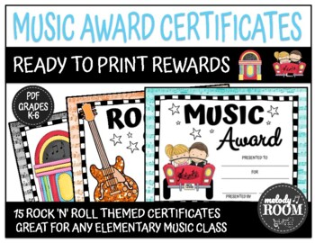 Rock and Roll Themed Music Awards