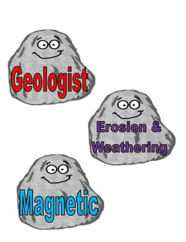 Rock and Soil Vocabulary Cards