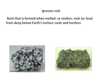 Rock and Soil Vocabulary Powerpoint