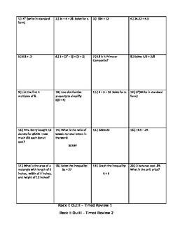 Rock it Out Common Core Math Test Prep