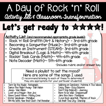 Rock 'n' Roll Activity Set (Includes math, art, STEAM, and more!)