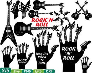 Rock 'n' Roll Music clipart Heavy Metal Guitar Rock Star Musical instrument 359s