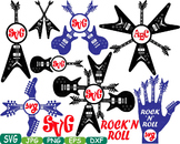 Rock n Roll Music clipart Heavy Metal Guitar Rock frame Musical instrument 360S