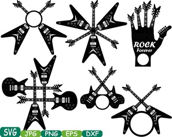 Rock n Roll Music clipart Heavy Metal Guitar Rock frame Musical instrument 360S