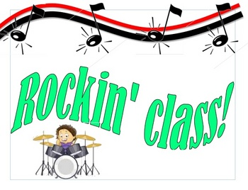 Rock 'n Roll Theme Welcome Sign