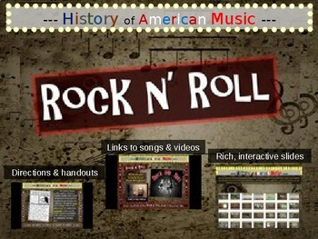 Rock n' Roll: comprehensive, engaging Music History PPT (l