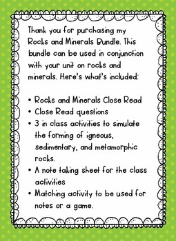 Rock on With Rocks and Minerals