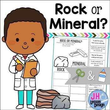 Rock or Mineral? Cut and Paste Sorting Activity