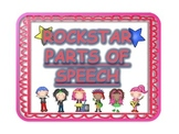 Rock star Parts of Speech Posters