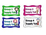 Rock star supply tub labels
