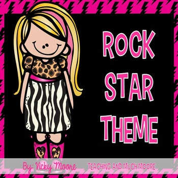 Rock star theme classroom pack  Decor / Organization