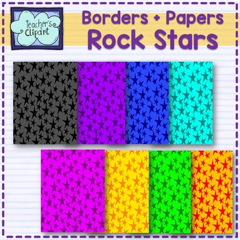 Rock Stars Band {papers, borders and clipart}