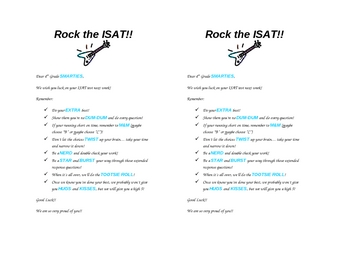 Rock the ISAT Candy Bag Note