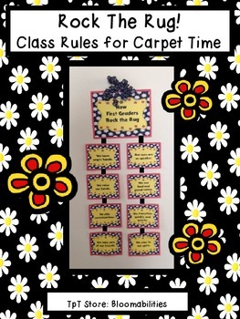 Rock the Rug! Rules for Meeting on the Carpet (Red, Black,