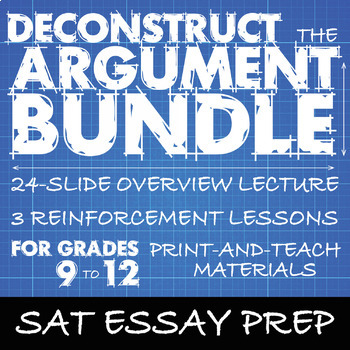 sat essay prep bundle deconstruct the argument rhetorical tools  sat essay prep bundle deconstruct the argument rhetorical tools s a t essay