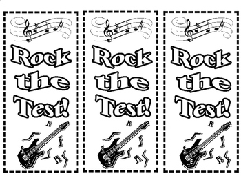 """Free """"Rock the Test!"""" Bookmarks"""