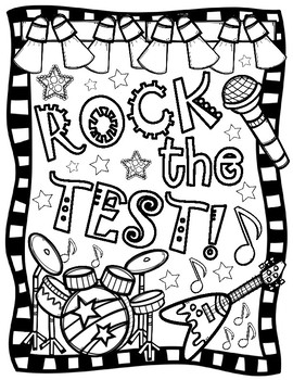 Rock the Test Coloring Page