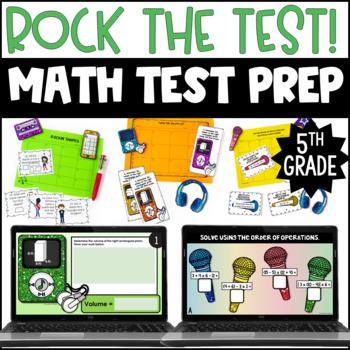 "5th Grade Test Prep Math Centers   ""Rock the Test"" Test Prep Centers"
