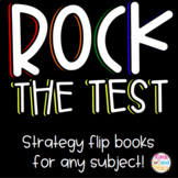 Testing Review Strategy Flip Book *EDITABLE*