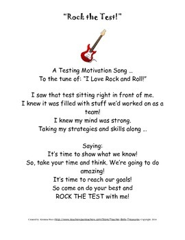 Rock the Test Song