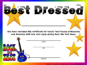 Rock the Test Survival Kit for Testing Pep Assembly and Spirit Week
