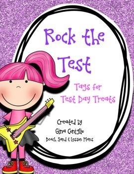 Rock the Test: Tags for Test Day Treats
