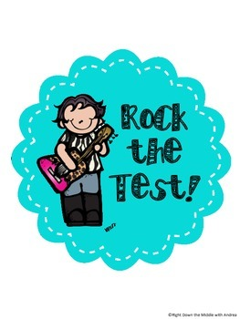 Rock the Test {Test Incentive Tag}