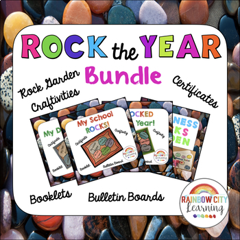 ock the Year Bundle: Rock Garden Craftivities, Certificates, and Booklets