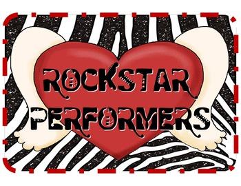RockStar Performers: Rock 'n' Roll Themed Classroom Jobs