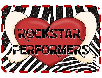 RockStar Performers: Rock 'n' Roll Themed Classroom Jobs