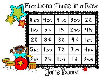 RockStar Review Game-Changing Improper Fractions to Mixed Numbers Three in a Row