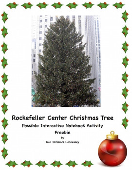 Rockefeller Center Christmas Tree( Fun Facts): Interactive Notebook Activity