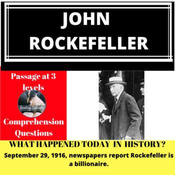 Rockefeller Differentiated Reading Passage, September 29
