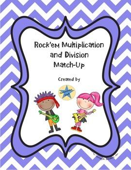 Rock'em Multiplication and Division Match Up
