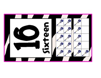Rocker Ten Frame Mini Posters