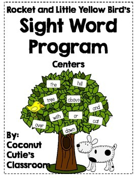 Rocket and Little Yellow Bird's Sight Words {Center Fun}