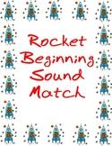 Rocket Beginning Sound Match File Folder Game