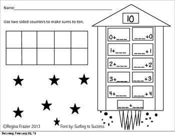 Rocket Blast Off Sums to 10  Common Core K.OA.4