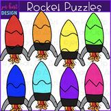 Rocket Clip Art - Rocket Puzzles {jen hart Clip Art)