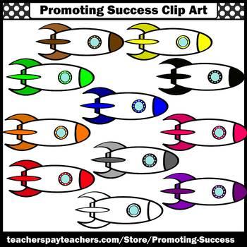 Rocket Clip Art, Space Themed Classroom Decor, Spaceship Clipart  SPS