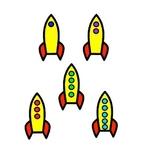 Rocket Count Matching Game