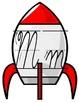 Rocket Cursive Alphabet Banner