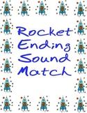 Rocket Ending Sound Match File Folder Game
