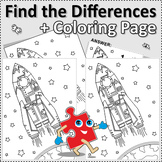 Rocket Find the Differences and Coloring Page, Commercial