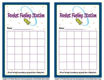 Rocket Fueling Station Cards (Bucket Filler)