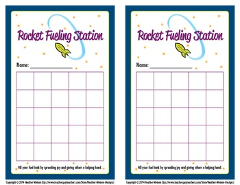 Rocket Fueling Station Cards (Bucket Filler)