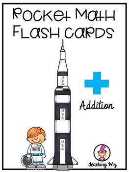 rocket math addition flash cards by teaching wiz tpt. Black Bedroom Furniture Sets. Home Design Ideas