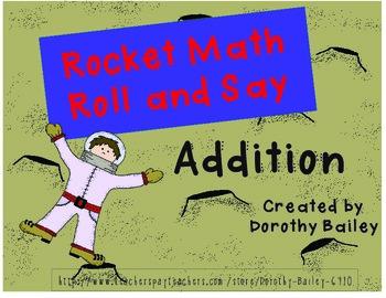 Rocket Math Rolland Say Addition Gameboard Bundle Levels A-Z